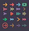 Set arrow icons flat ui design trend vector
