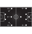Football field with 4-4-2 formation vector