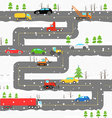 Winter road with cars vector
