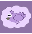 Funny flying bird vector