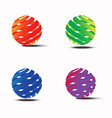 Abstract colorful circle logo template vector