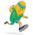 Healthy corn running vector