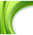 Green waves - abstract fresh spring background vector