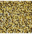 Golden abstract retro vintage pixel mosaic vector