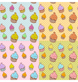 Cute vintage cupcake seamless texture vector