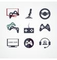 Video games icon set vector