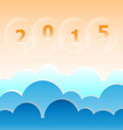New year 2015 blue sky background vector