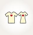 Love heart couple shirt vector