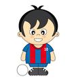 Kids soccer vector