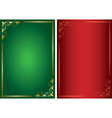 Set - decorative green and red frames vector