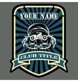 Biker or motor racing club emblem vector