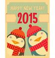 Penguin new year vector