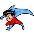 Anime manga boy superhero vector