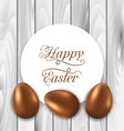 Celebration card with easter chocolate eggs on vector