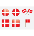 Badges with danish flag vector