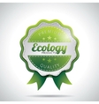 Ecology product labels with shiny styled design vector