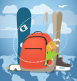 Winter vacation sports equipment vector