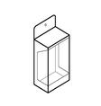 Empty showcase box vector