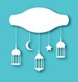 Eid mubarak greeting card with decoration vector
