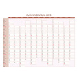 Annual planner 2015 spanish vector