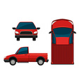 A red truck vector