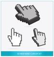 Web arrow hands symbols set isolated vector