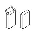 Rectangle box vector