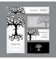 Business cards design with abstract tree vector