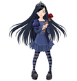 Goth girl vector