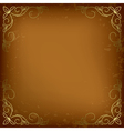 Dark beige card with golden decor vector