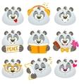 Emotions panda vector