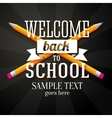 Welcome back to school greeting with two crossed vector