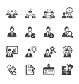 Management and human resource icons vector