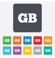 British language sign icon gb translation vector