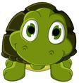 Cute green turtle cartoon vector
