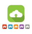 Color set of flat cloud uploading icon vector