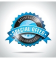 Special offer labels with shiny styled design vector