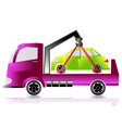 Tow truck with a car vector
