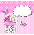 Baby girl arrival announcement vector