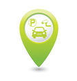 Parking place green map pointer vector