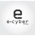 E cyber shop vector