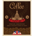 English coffee vector