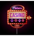 Neon sign poker club vector