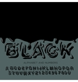 Black oil painted alphabet vector