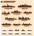 Skyline city set 10 cities of usa 2 vector