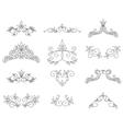 Set - floral design elements vector