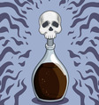 Bottle of death poison vector