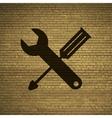 Screwdriver wrench icon symbol flat modern web vector