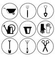 Gardening tools icon set vector