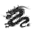 Black chinese dragon vector